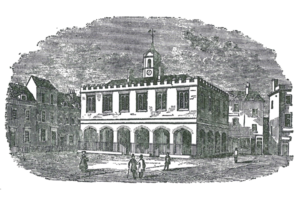 The Blue School site, c. 1844 (click to enlarge).