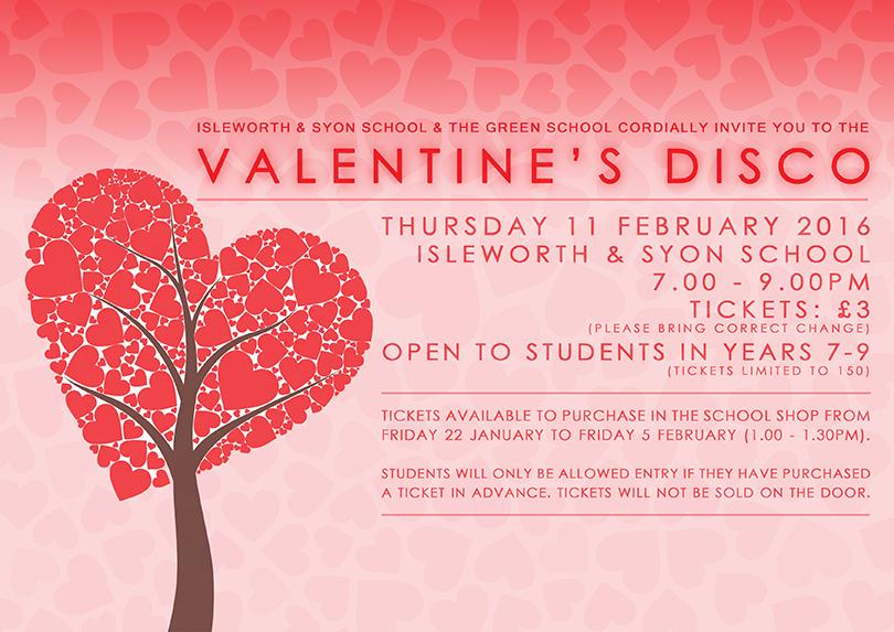 valentines disco poster - Valentines For School