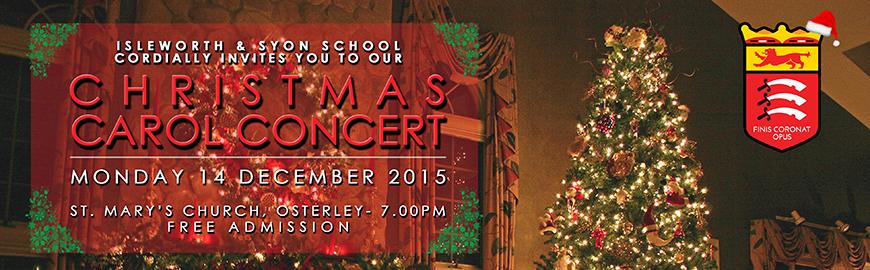 Christmas Carol Concert – Monday 14 December 2015