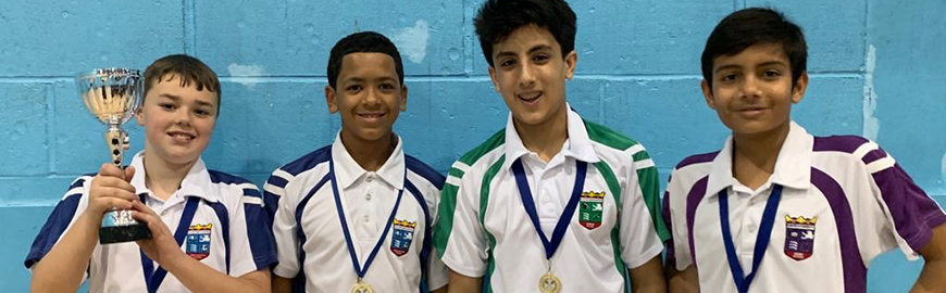 KS3 and KS4 Badminton Teams Win Borough Title
