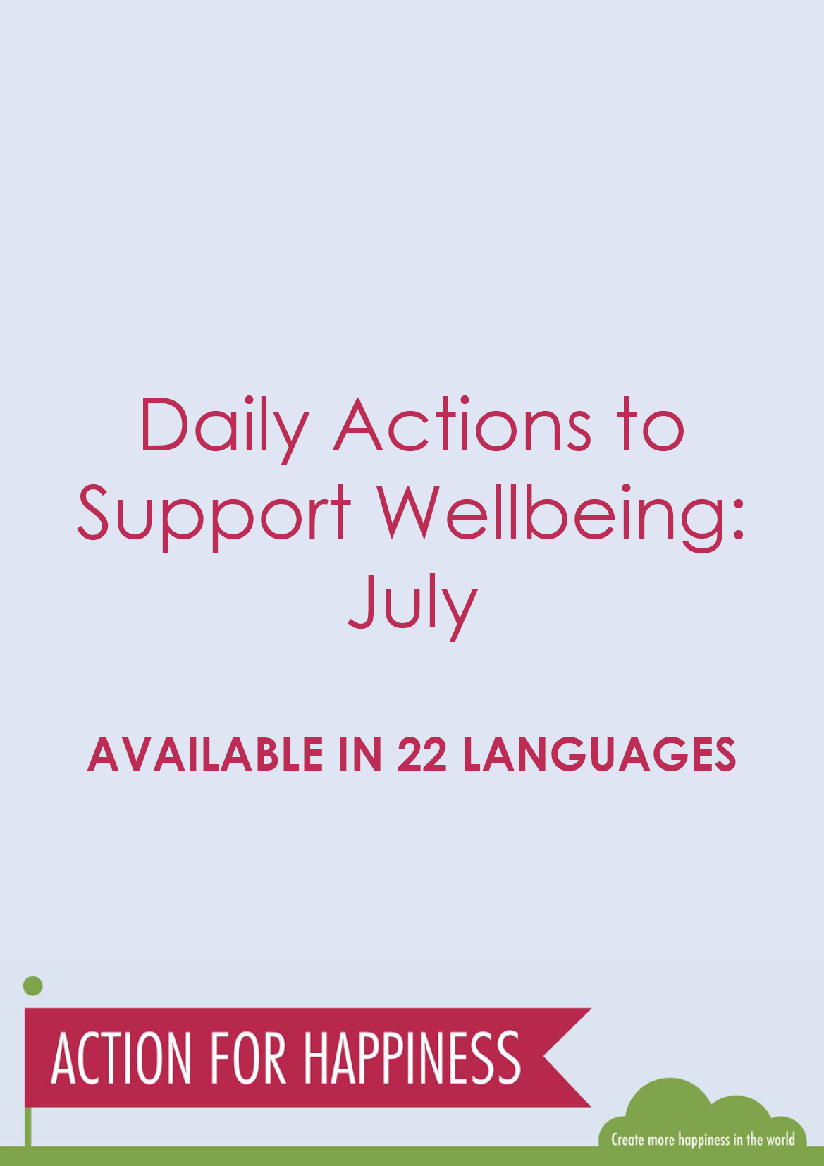 July Wellbeing